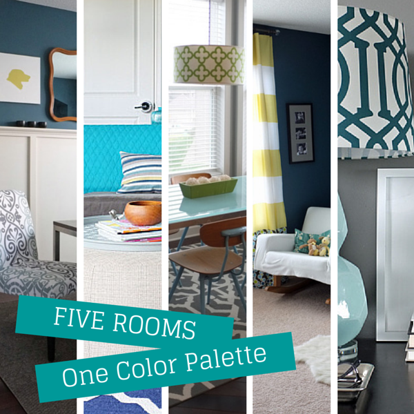 How to use the same colors in multiple rooms to create a different look and feel