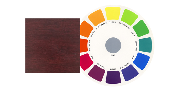 red wood with color wheel