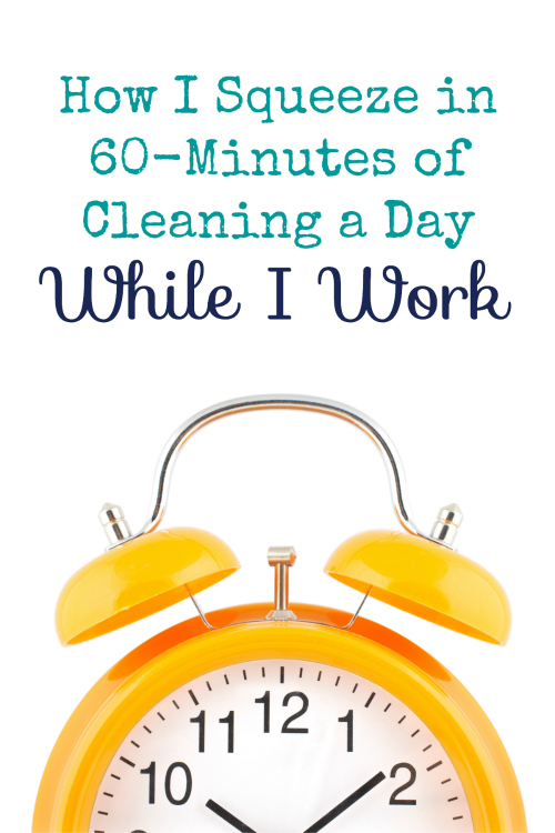 This is a great idea to get all your chores done while you work.