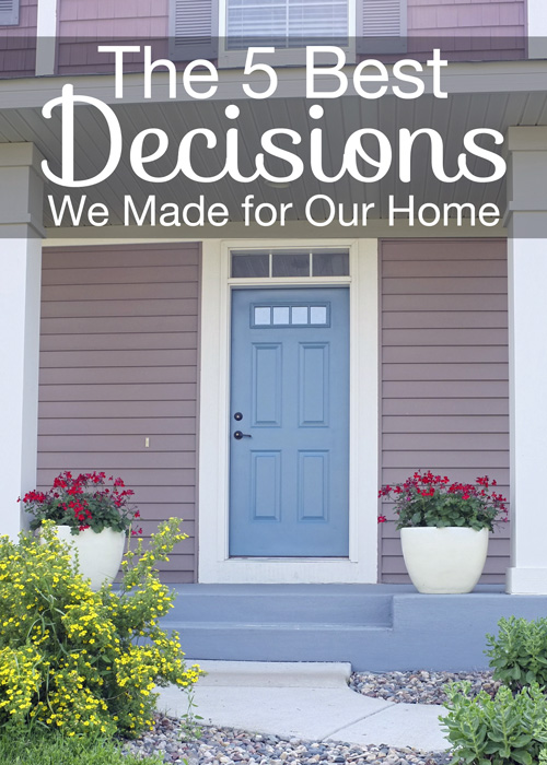 Great tips on 5 decisions that make decorating your home easier in the long run.