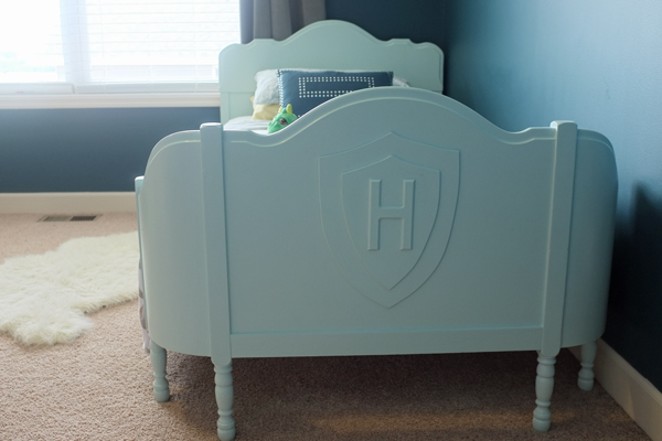 How to give an antique bed a modern makeover perfect for a little boy