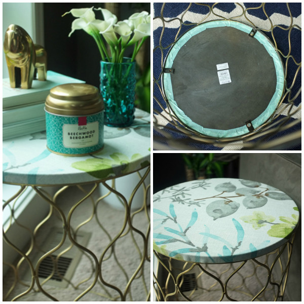 How to quickly update an ugly accent table with FABRIC!