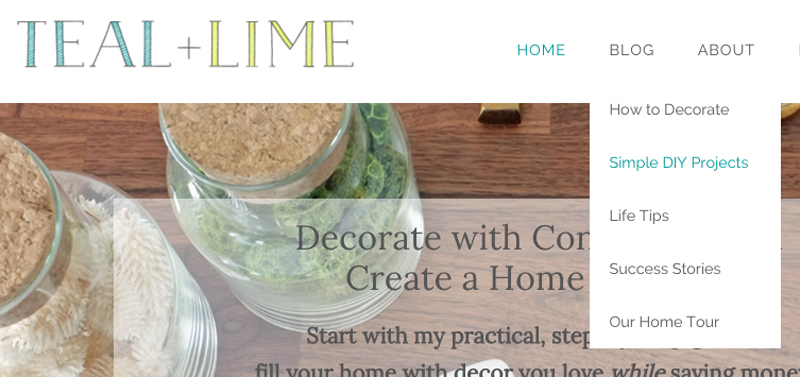 Teal and Lime Home Page Design