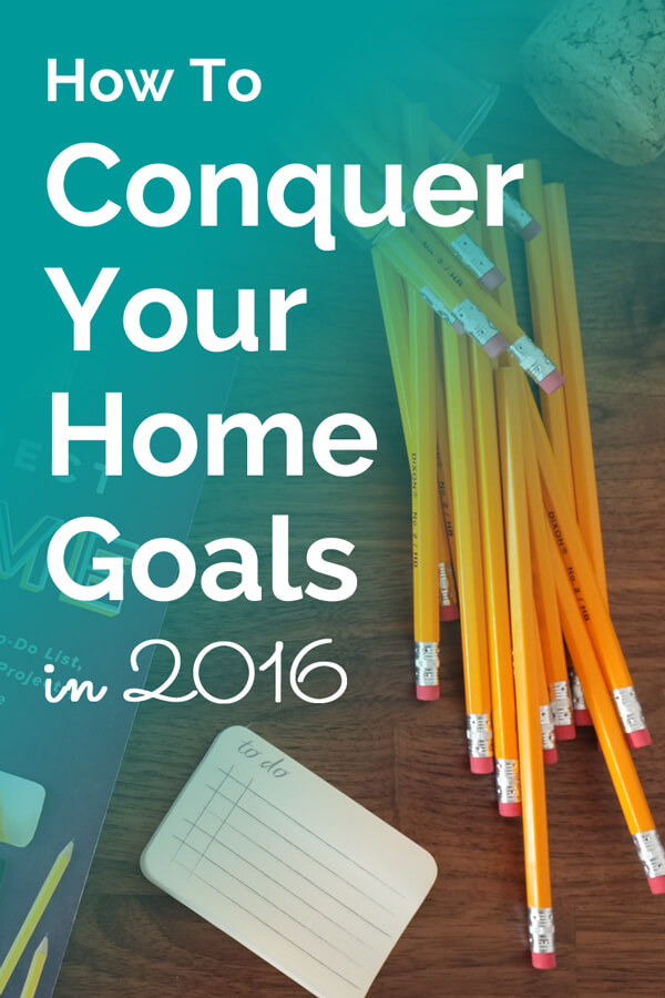 Take this free 6 Day Conquer Your Home Goals Challenge to shrink your to do list, organize all your home project ideas, and figure out which project to do next. Click through to take the challenge.