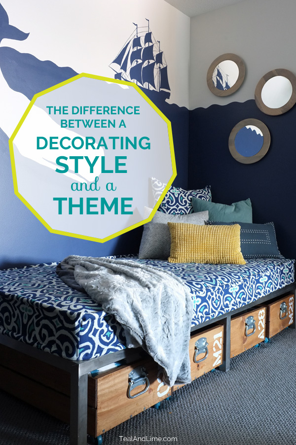 Are you confusing having a decorating style with choosing a theme? Here's the difference explained with tips on how to switch from a theme-mentality to a style-mentality.