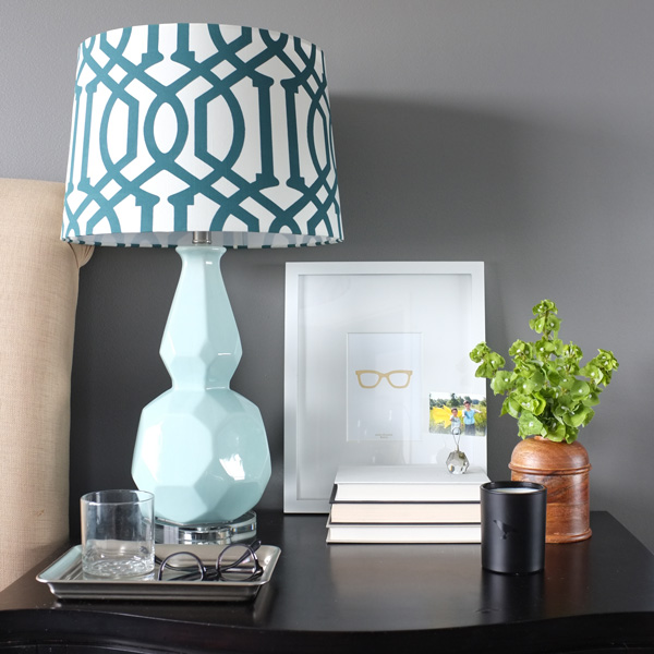 How to style a manly, yet beautiful, nightstand