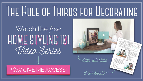 Rule of Thirds for Decorating