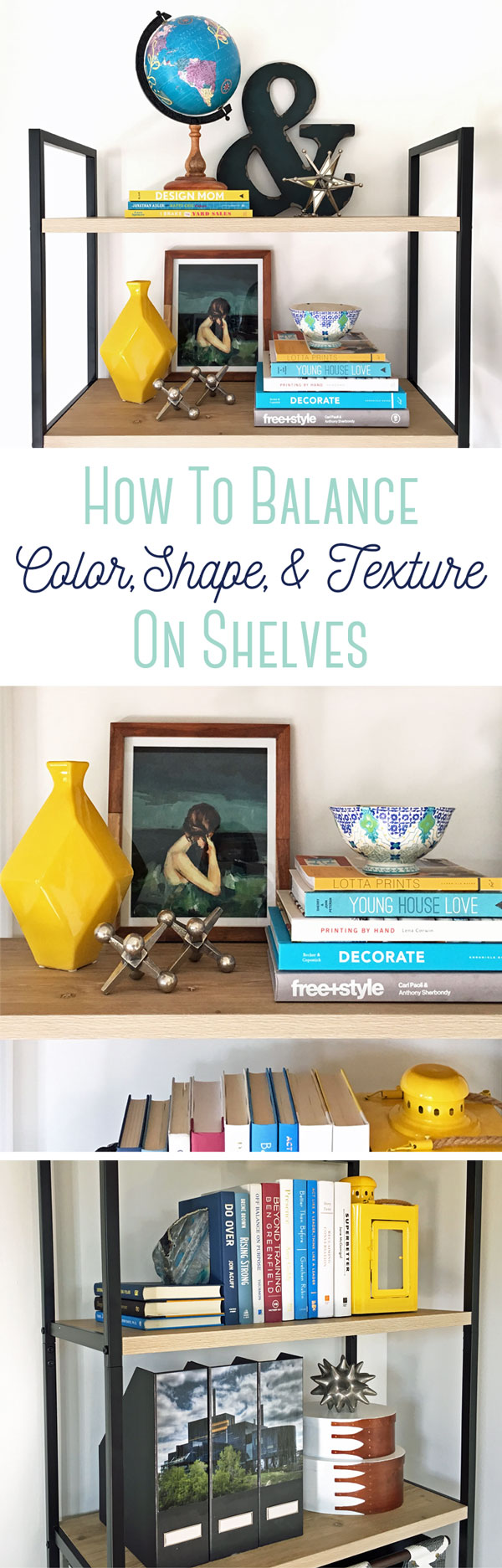 Love these tips for balancing color, shape, and texture in your decorating. Watch the video to see how she does it.