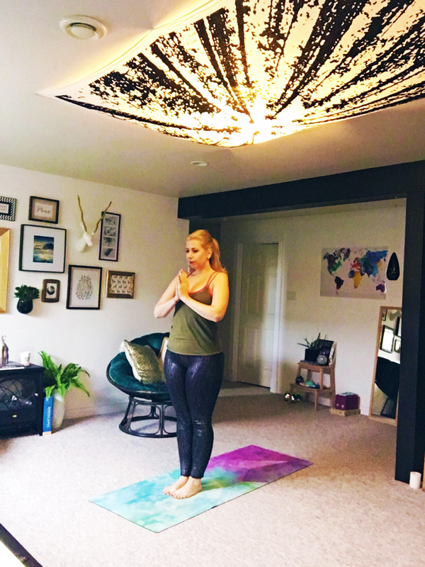 Dayle's Yoga Celler basement makeover before and after from School of Decorating