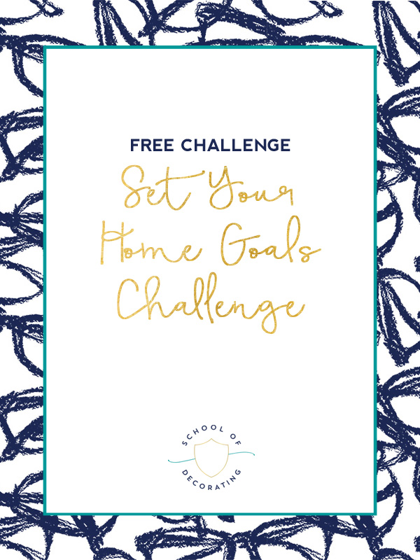 Join me for the free Set Your Home Goals Challenge and I'll teach you the simple 4-step process to shrink your to do list, organize all your project ideas, and figure out which project you should do next.