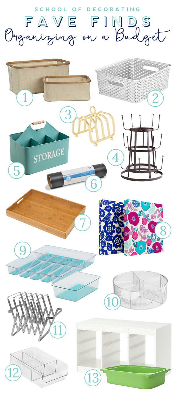 These are the best budget-friendly organizers and they're cute too. Everything is covered here from toy storage to paper clutter to kitchen organization.