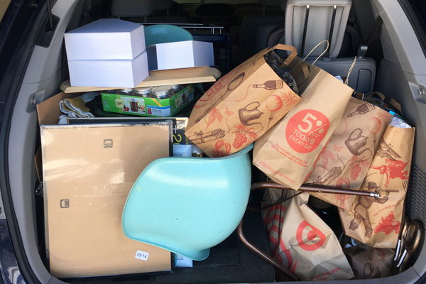 Smart decluttering rule: Put items for donations directly in car, so you can drop them off the next time you're out running errands.