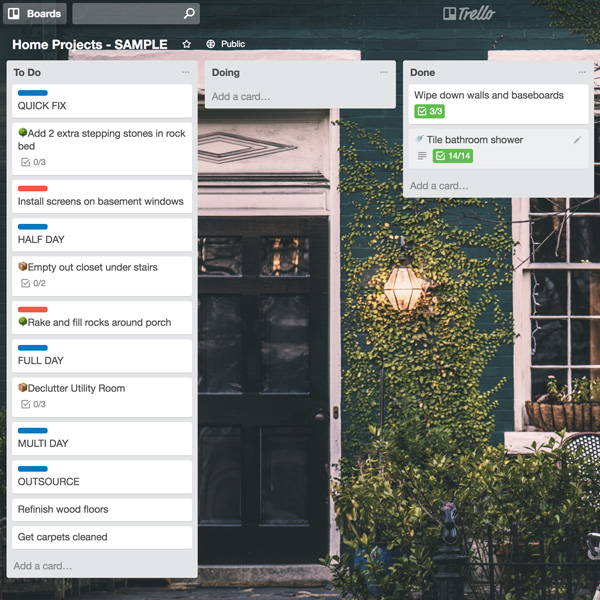 How to set up a digital Kanban board to manage your home improvement projects