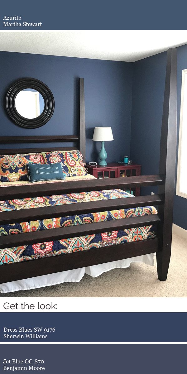 Create a modern whole house color scheme. Try rich indigo in a bedroom or as an eye-catching accent wall.