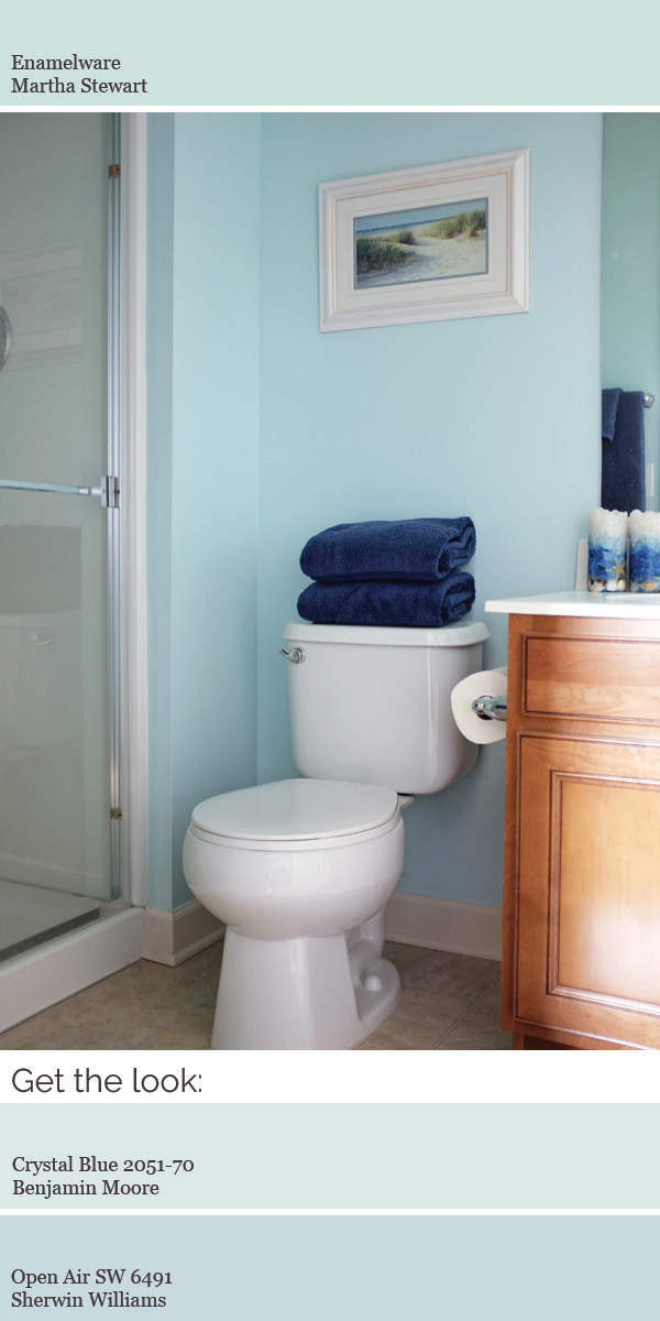 Create a modern whole house color scheme. Try a light aqua in a bathroom.