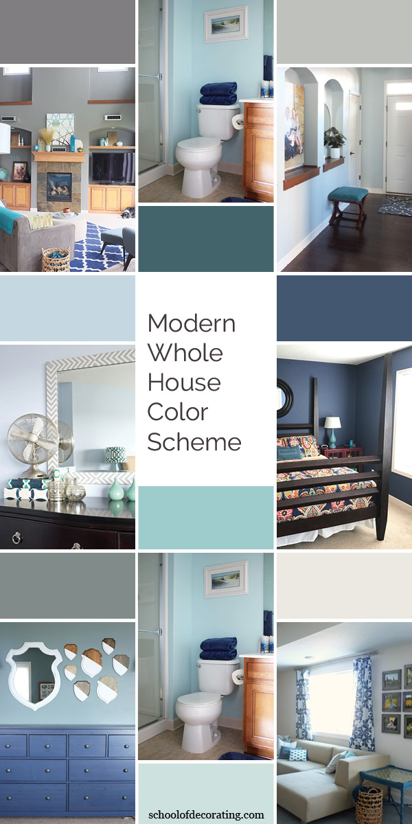 Get the look: Best paint matches for Sherwin Williams and Benjamin Moore to copy this modern whole house color scheme