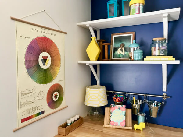 Vintage color wheel chart - fun for a craft room!