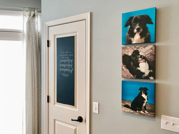 Add chalkboard vinyl to your pantry door and use the space to display inspirational quotes.