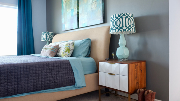 Love the colors and patterns in this room