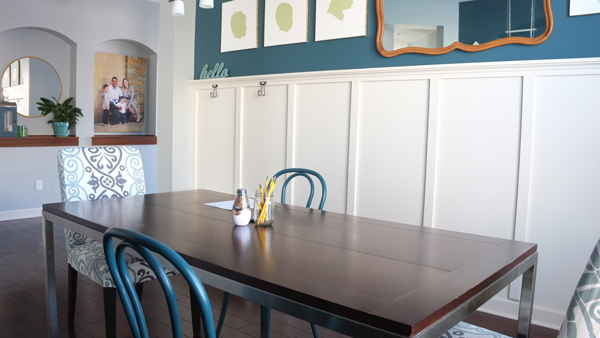 How to set up a dining room as a homework room or study space