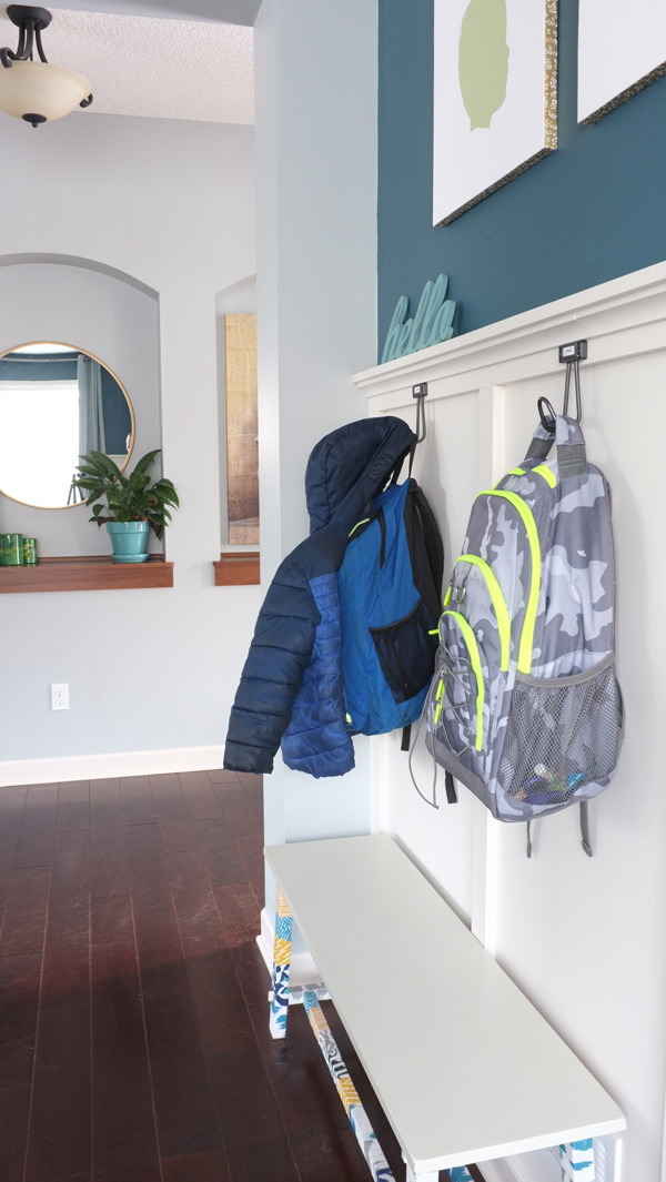 Easy backpack storage