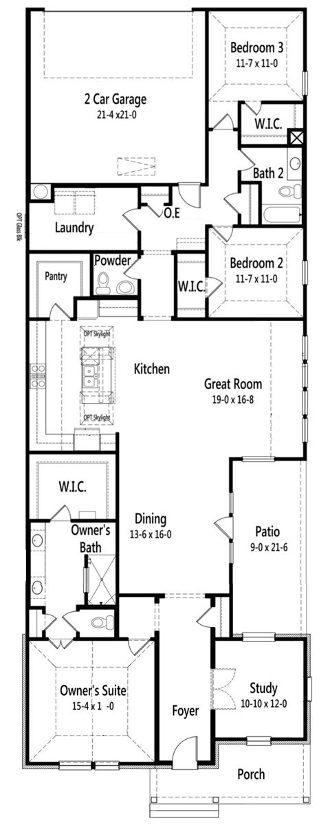 Modern one level home Meadowcreek floor plan by Cambridge Homes in Dallas, TX.