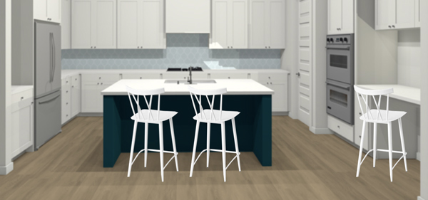 Pretty white x back metal counter stools
