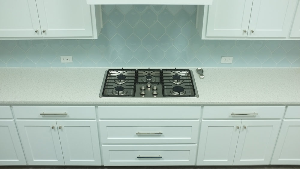 extra wide kitchen drawers with polished nickel pulls