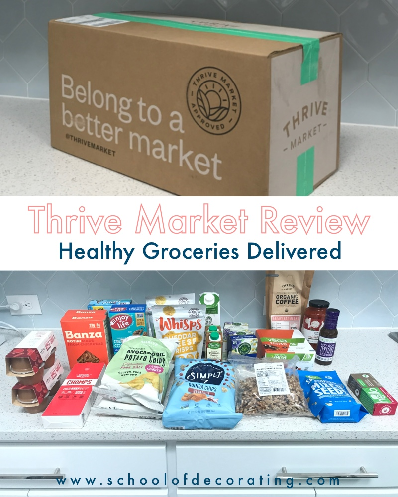 Thrive Market Review - online grocery shopping for healthy foods